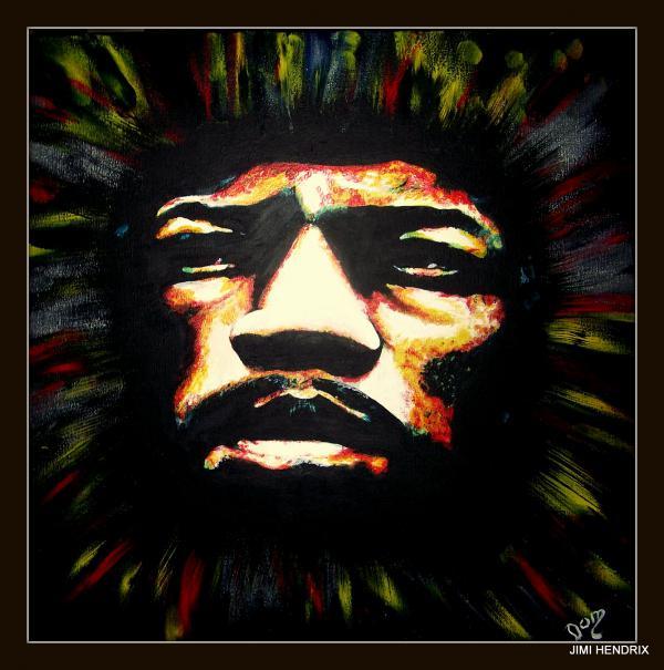 Jimi Hendrix by domter